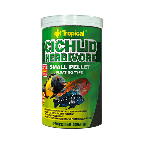 Tropical Cichlid Herbivore Small Pellet 250ml