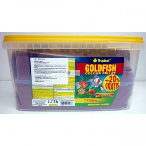 Tropical Goldfish Color Pellet 5l